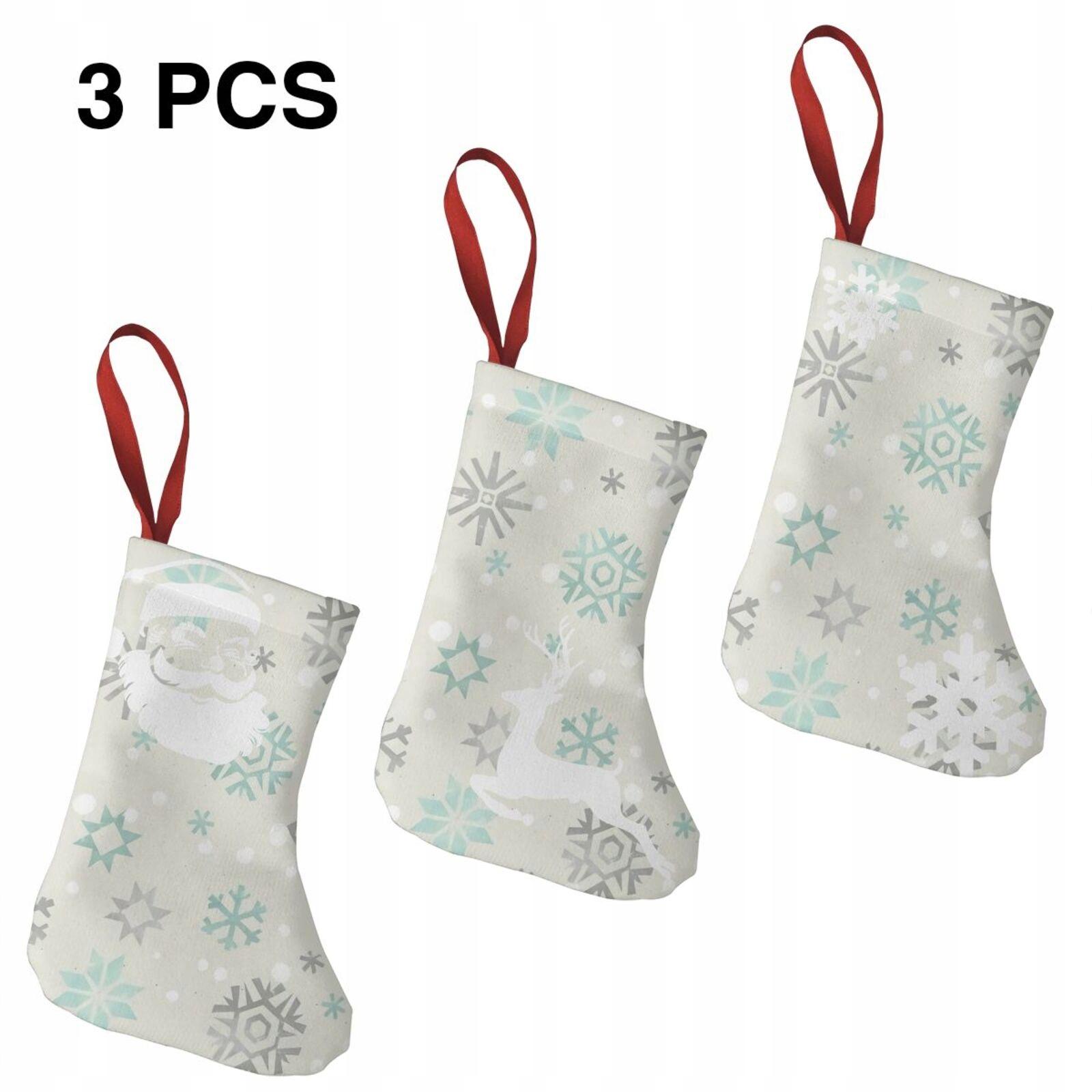 3 kusy vianočná pančucha darček na vianočný stromček