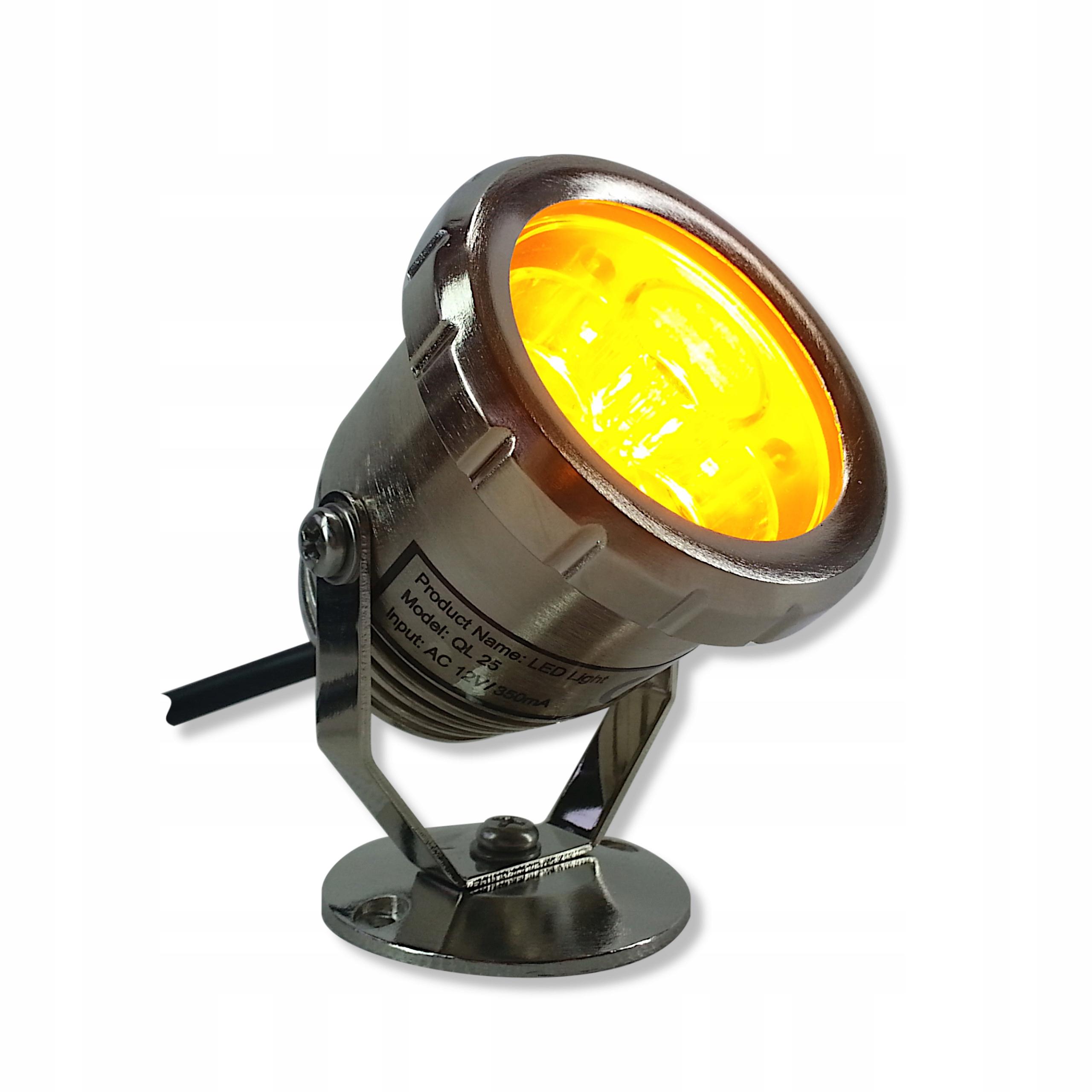 ЛАМПА LED - Фары из нержавеющей -QL 25 3 Желтый