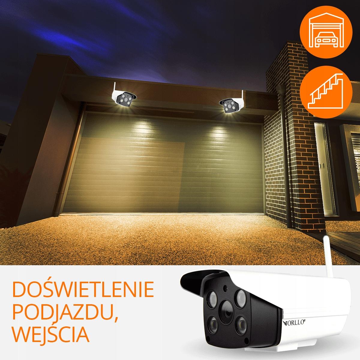 Kamera z Alarmem Zewnętrzna WiFi SYRENA + K. 64 GB Klasa szczelności kamery IP66