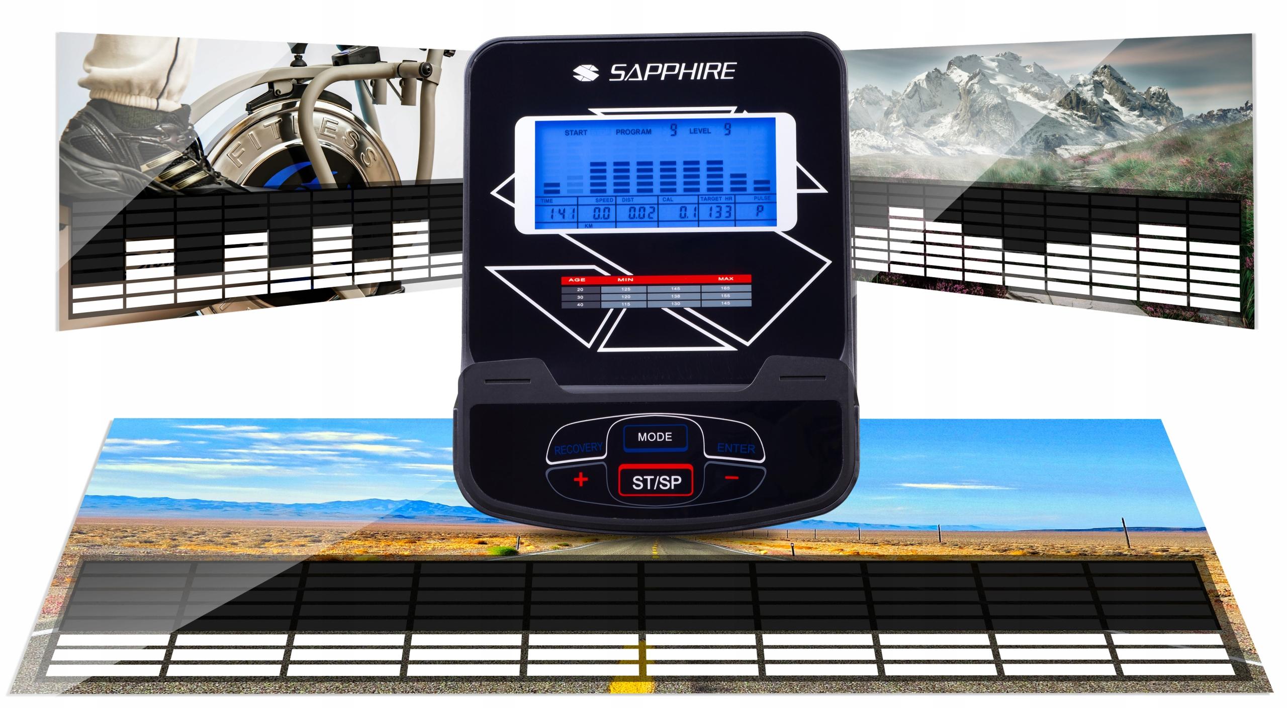 SG X-PRO orbitrek ELEKTROMAGNETYCZNY trenażer+PAS Maksymalna waga użytkownika 150 kg