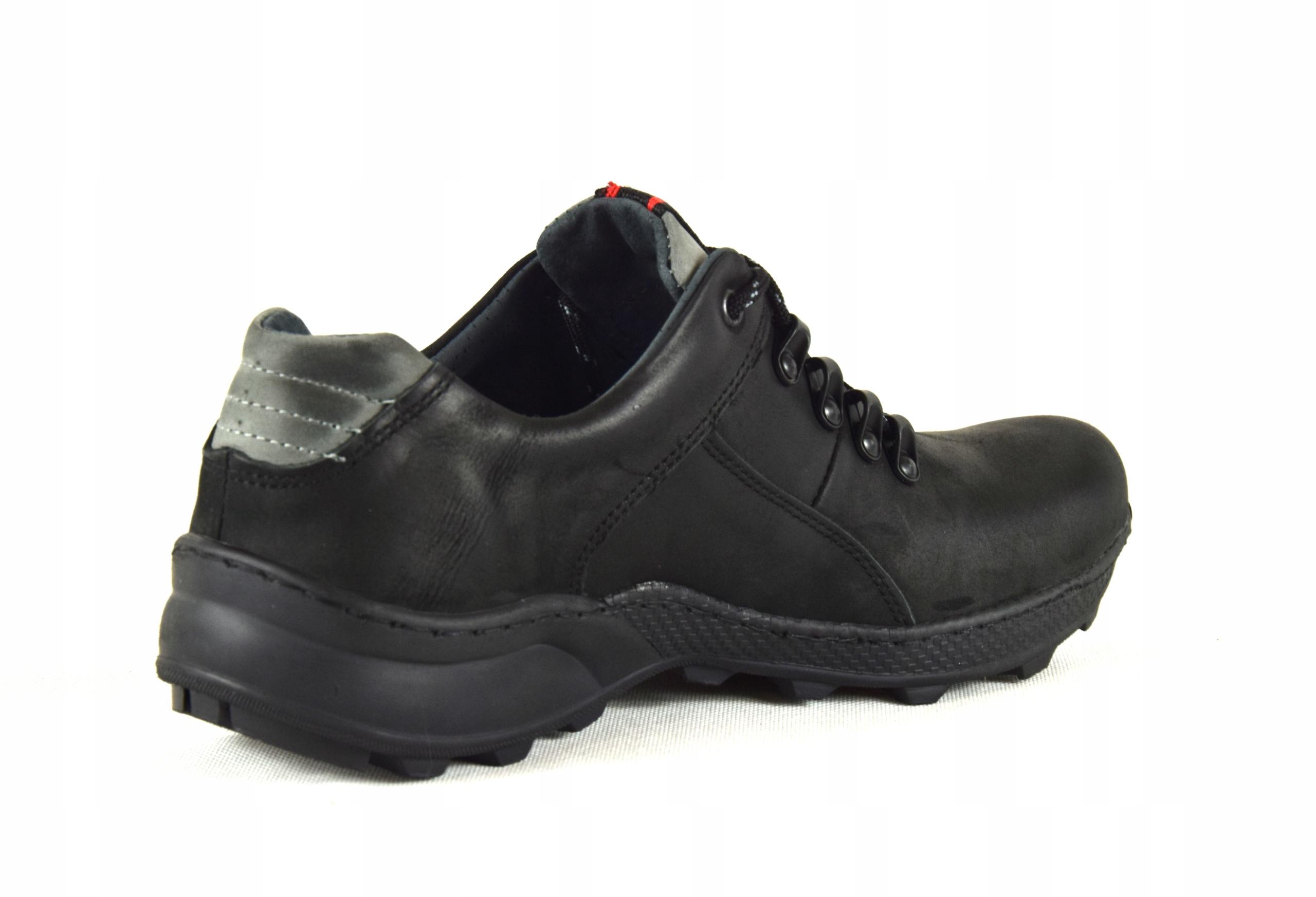 Męskie skórzane obuwie trekkingowe ze skóry 296 Model Trekkingowe