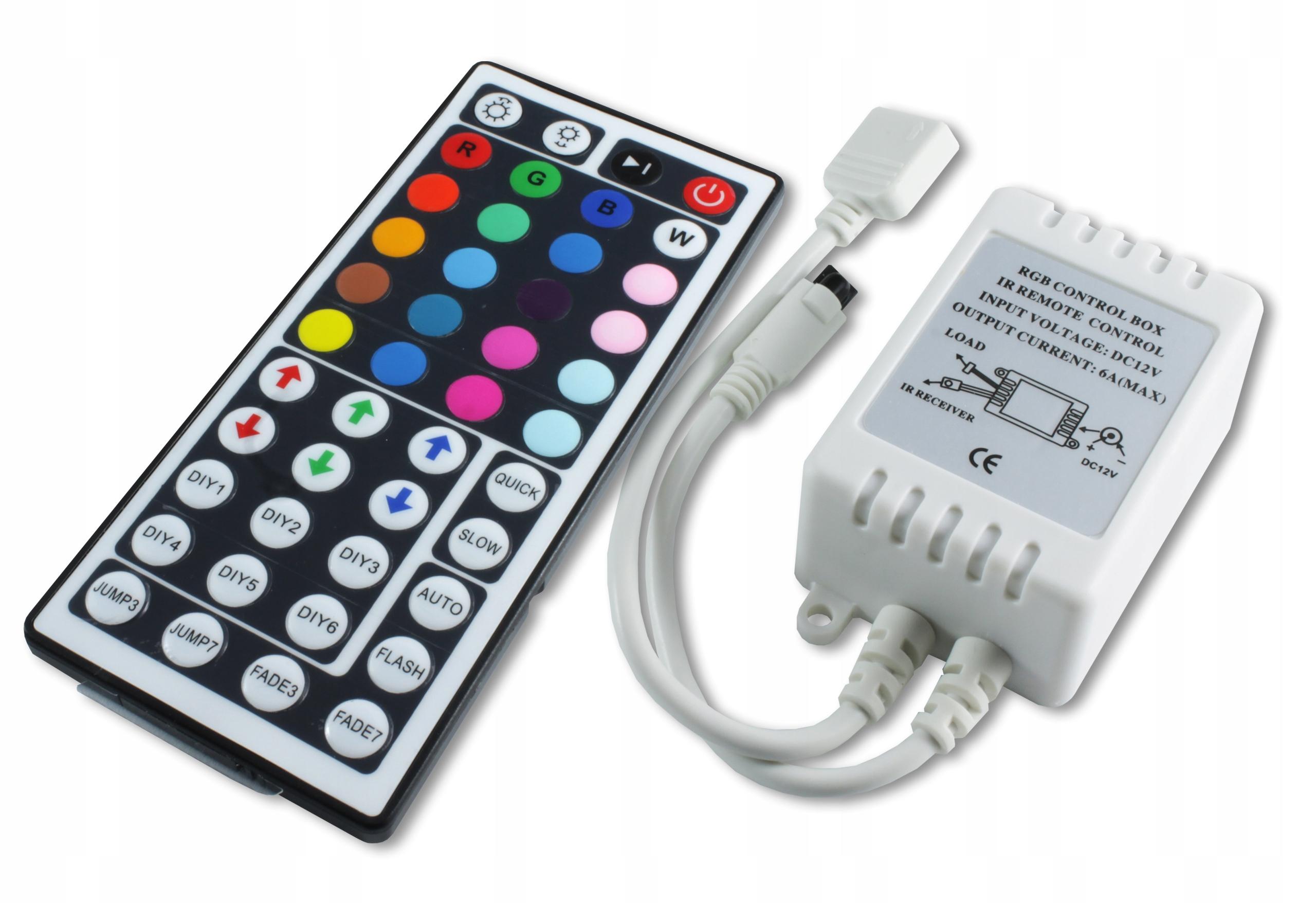 Sterownik Kontroler RGB PILOT do taśm LED IR 12V