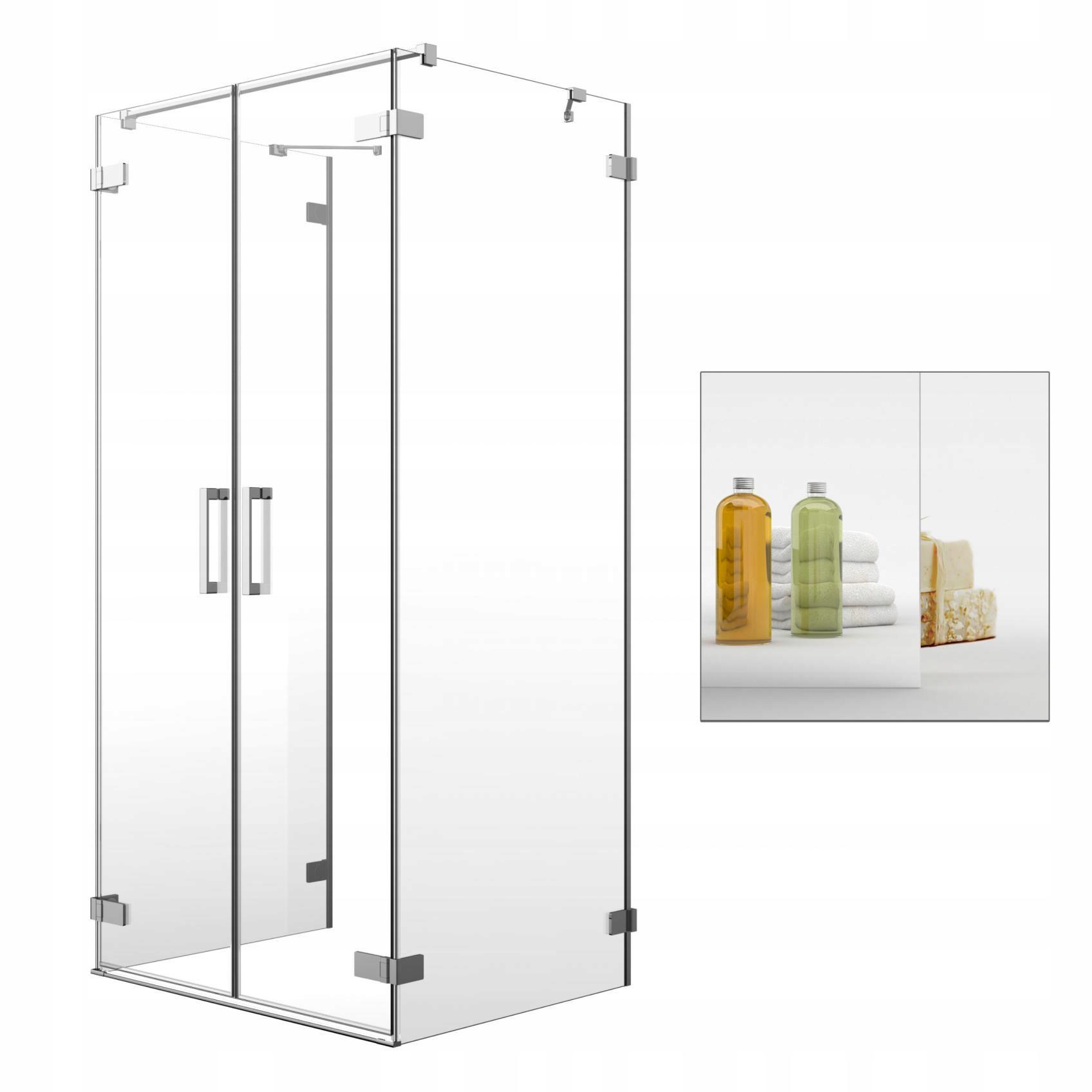 Sprchové kabíny Umenie DWD+2S 100x100 sklo zrkadla