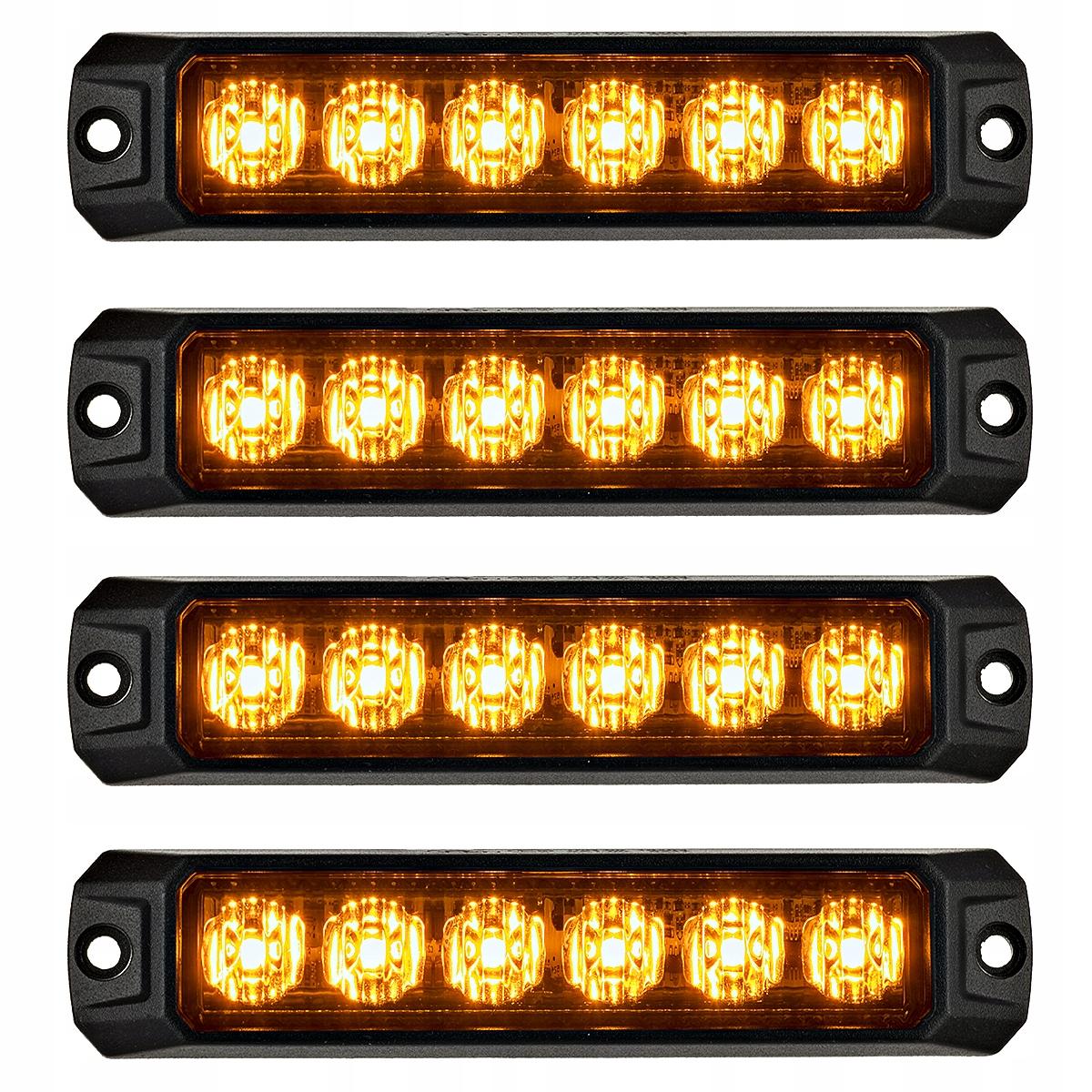 лампа 6 led предупреждения 4x stroboskopowa эвакуатор