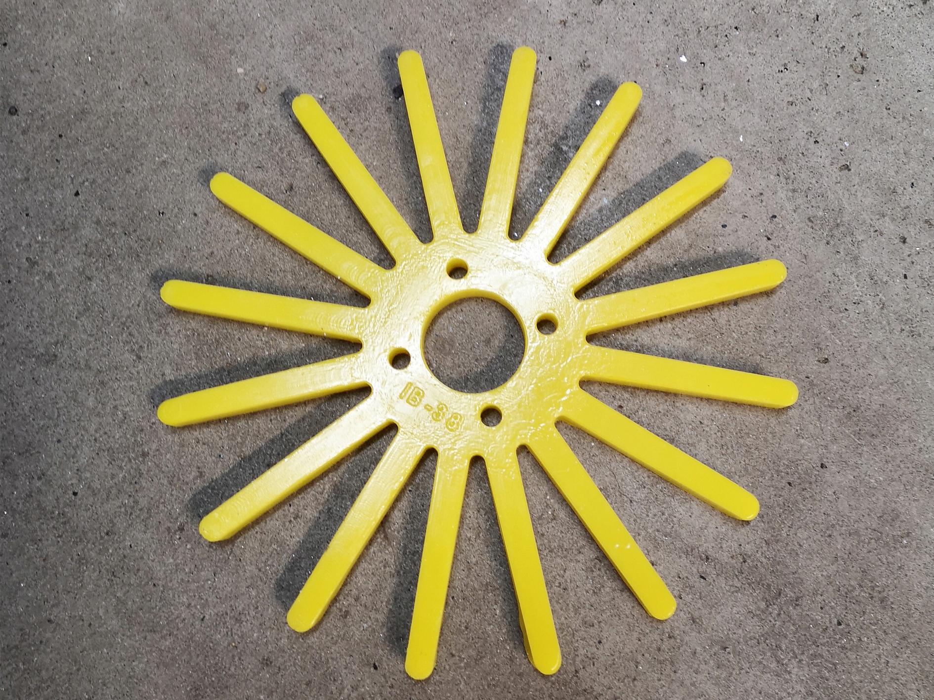 Gwiazda pieląca poliuretanowa do pielnika 250mm