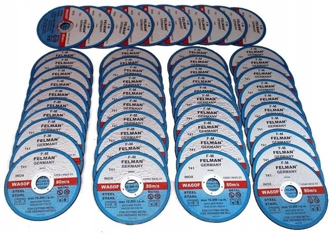 50 шт. DISC METAL CUTTING DISCS 125x1 сильный