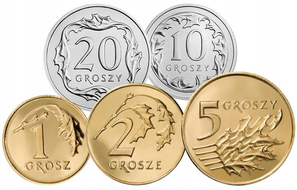 Komplet monet obiegowych 1998 r. UNC 5 sztuk