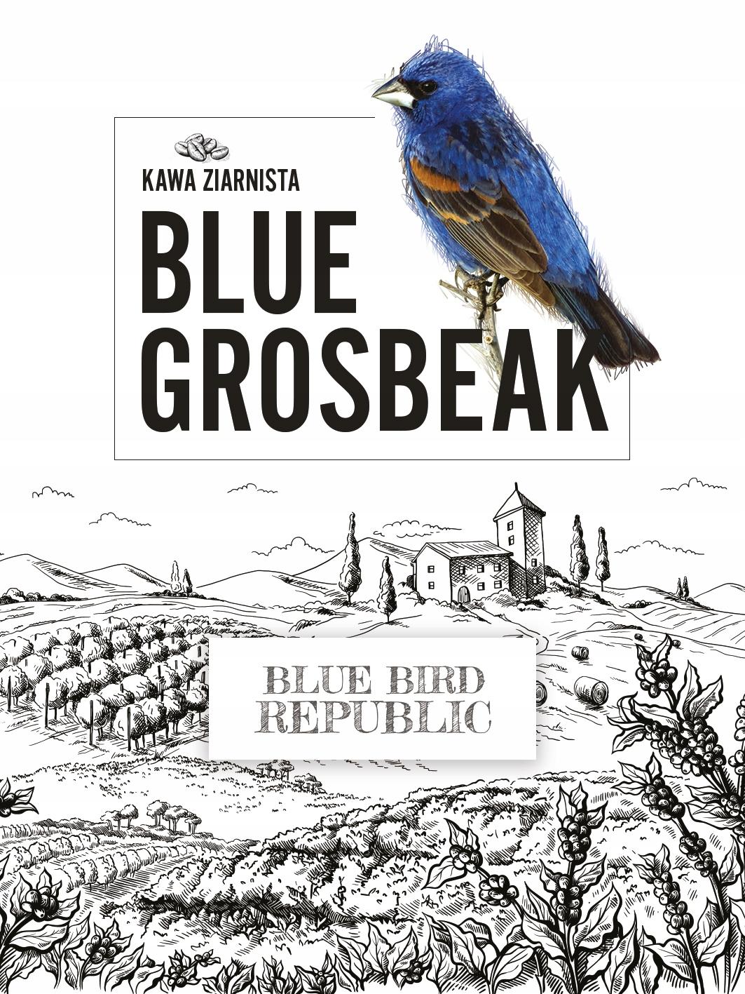 Káva Republiky Blue Bird Modrá Grosbeak 1 kg