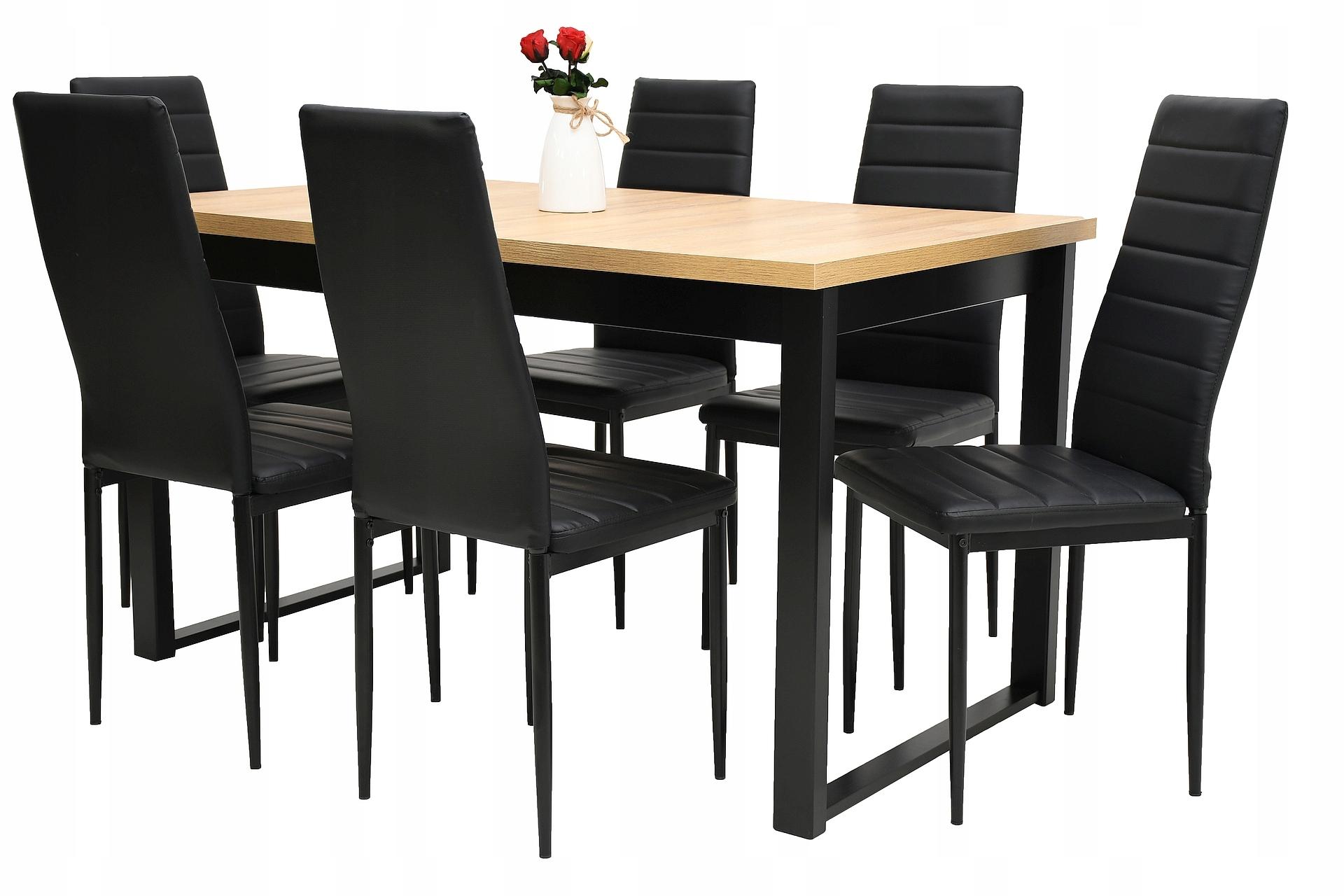 6 стульев ECO и складной стол СТОЛОВАЯ КОМПЛЕКТАЦИЯ