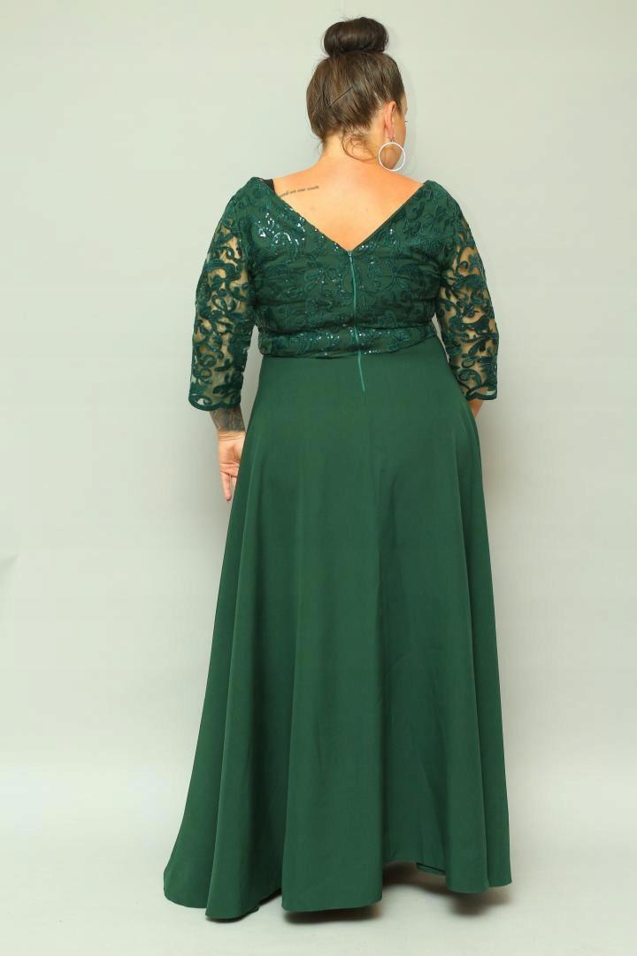 ELITE Sukienka maxi na WESELE duży rozmiar XXL 58