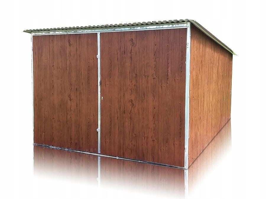 Garaż blaszany blaszak 3x6 garaże drewnopodobne