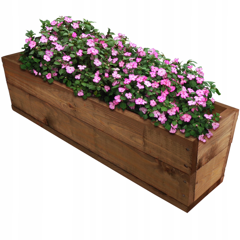 Drewniana Donica Skrzynka Doniczka Na Kwiaty Duza 9444520991 Allegro Pl