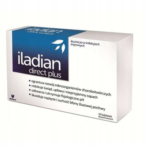 ILADIAN Direct Plus na infekcje kobiece 10 szt.