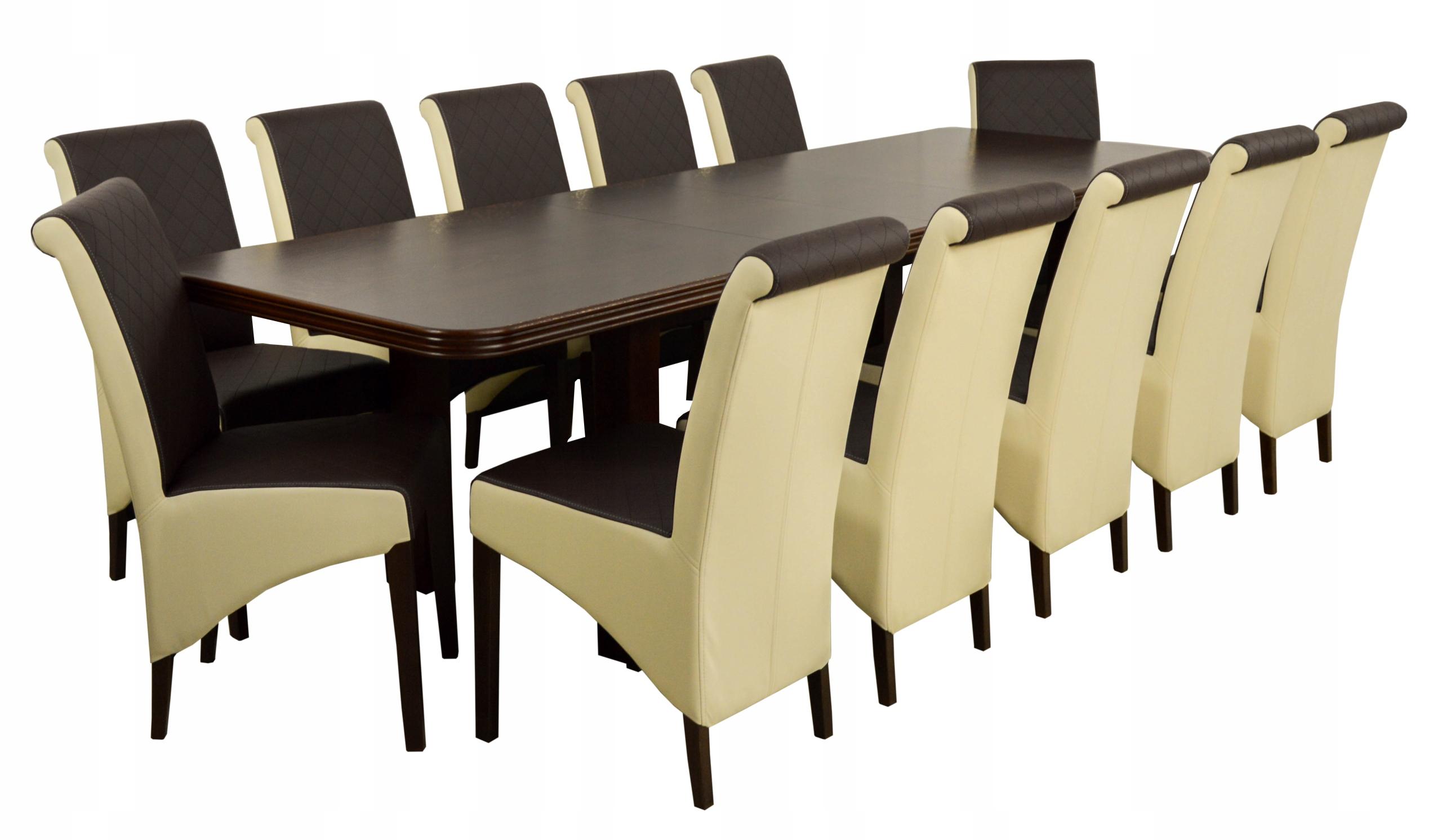 12 stoličky a stôl 90x200/280 cm +DOPRAVA zadarmo