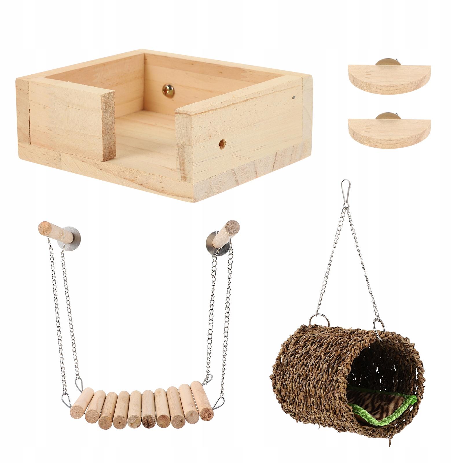 1 комплект деревянной игрушки хомяка морской свинки