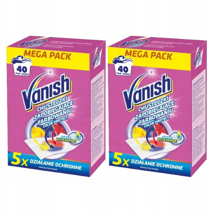 Vanish влажные Салфетки Способные Цвета 2x40 Стирок