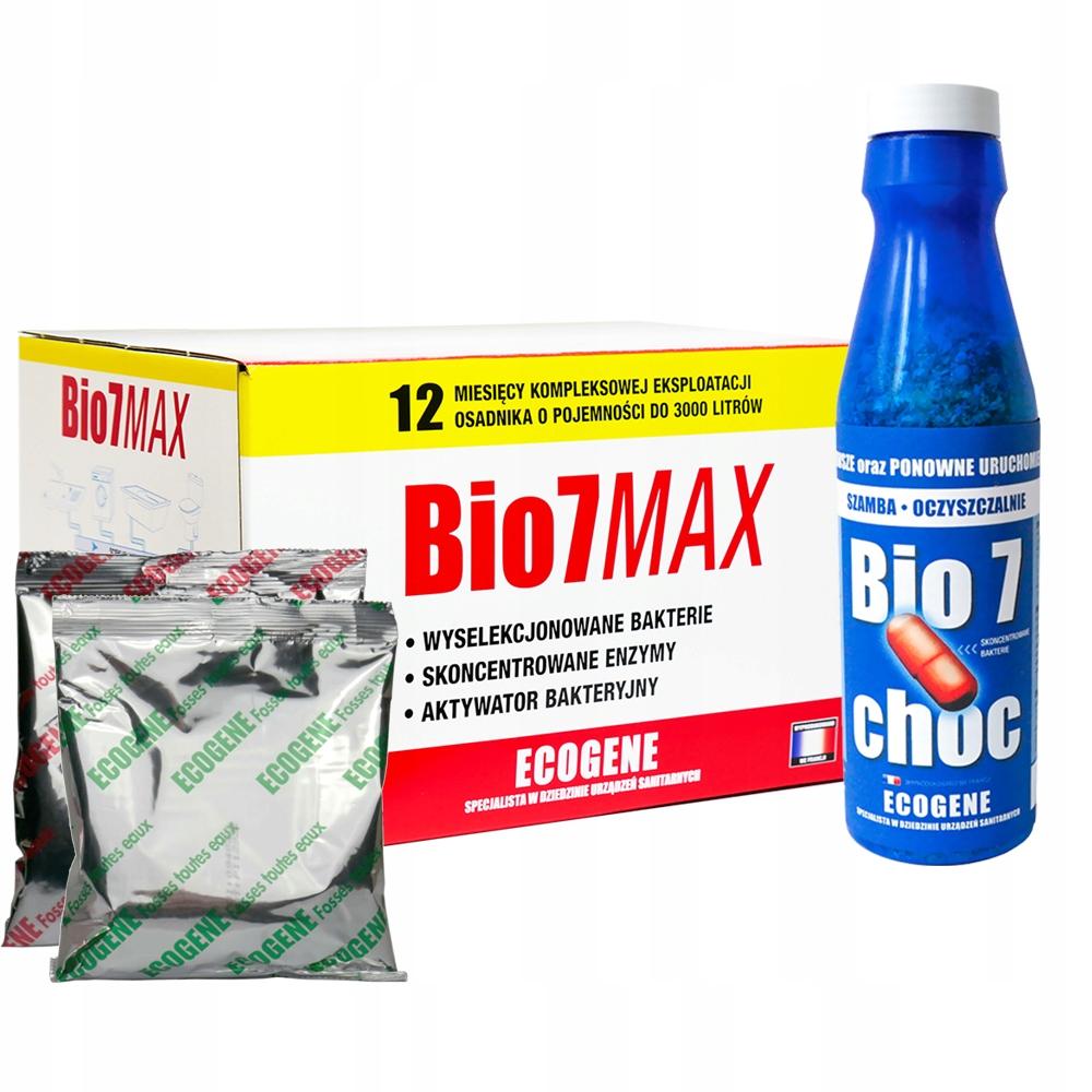 Bio 7 Choc Starter + Bio7 Max 2kg Oczyszczalnia
