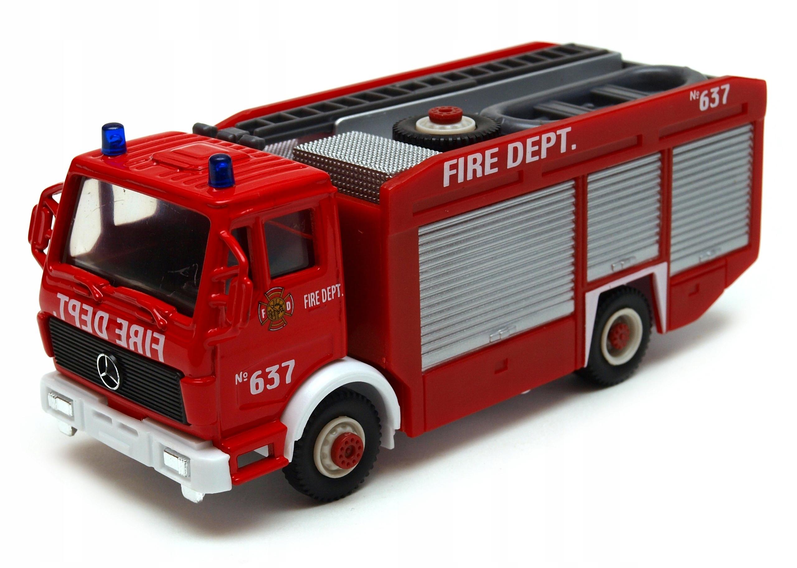 Mercedes-Benz Unimog straż pożarna 1:50 model WELL