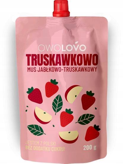 Mus Owocowy MIX SMAKÓW Owolovo 200 g x 36 sztuk Smak Jabłko Morela Truskawka