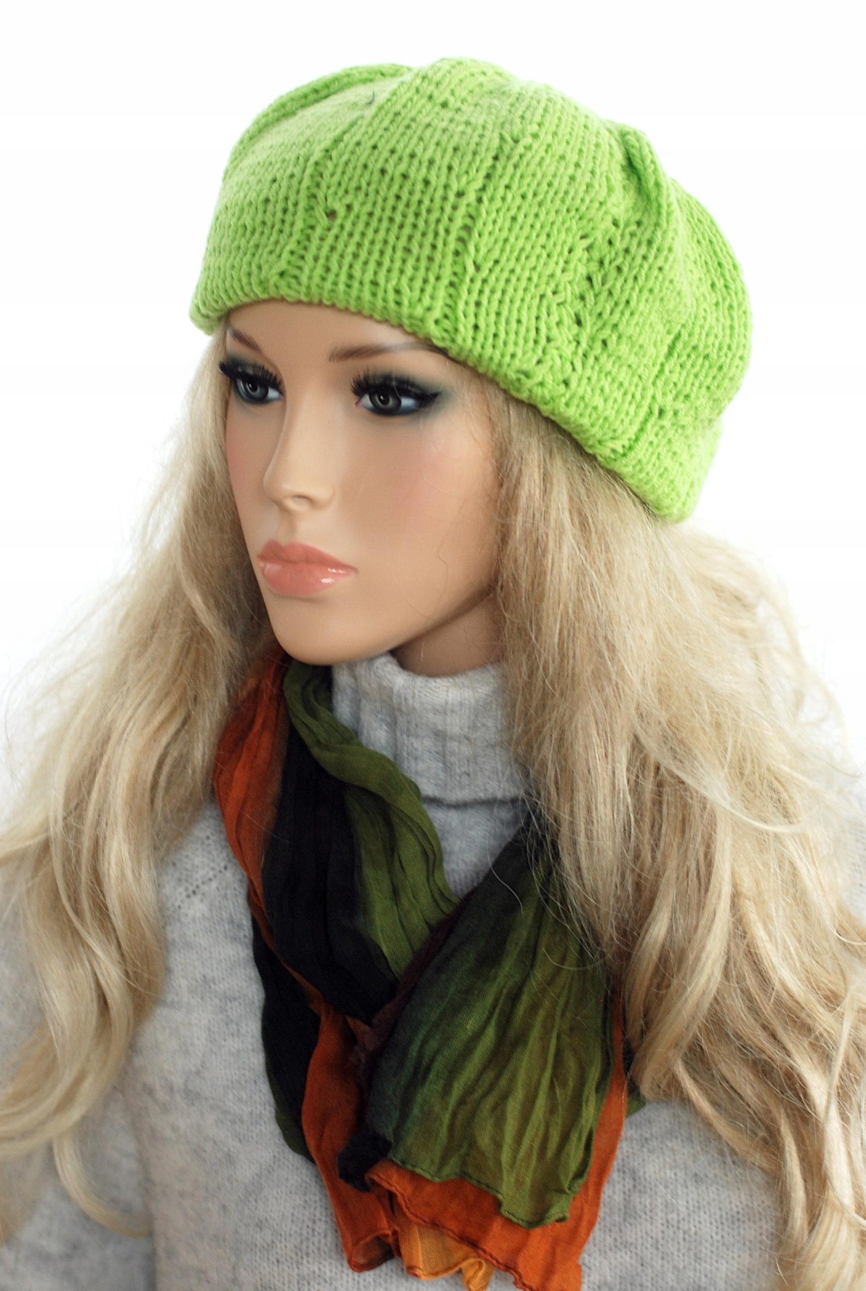 Krásne jasné zelené breet čiapky vzory remeslá