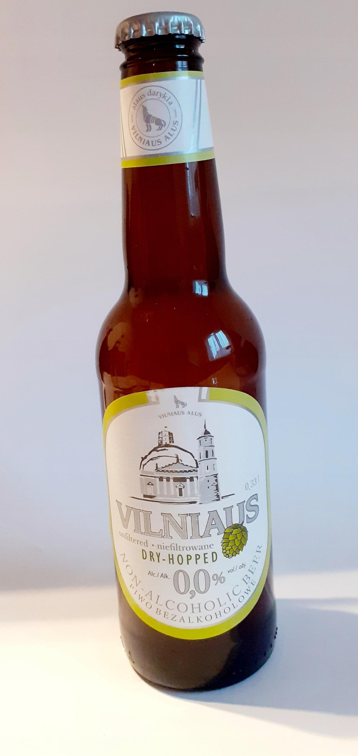 Piwo bezalkoholowe Vilniaus 0,33l