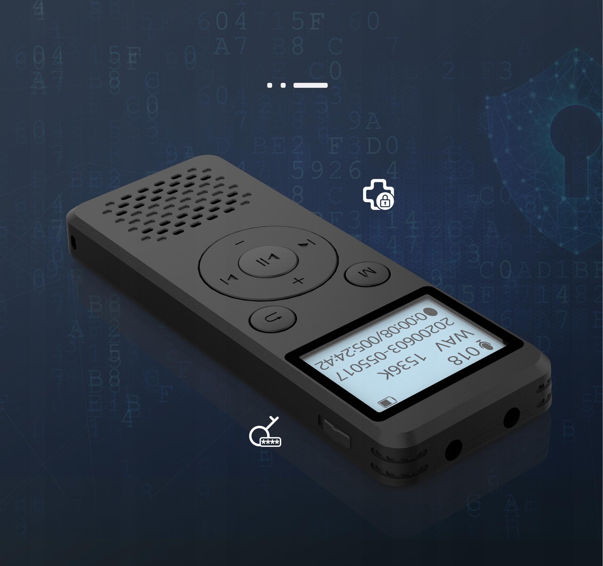 Szpiegowski Dyktafon cyfrowy1536Kbps 8GB detekcja Mikrofon stereofoniczny