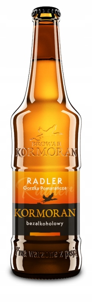 Piwo bezalkoholowe Kormoran -Radler Gorzka Pomarań
