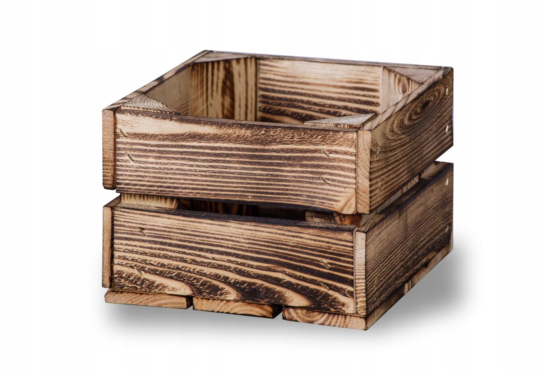 Ящики деревянные, обожженный ящик 22х20х15