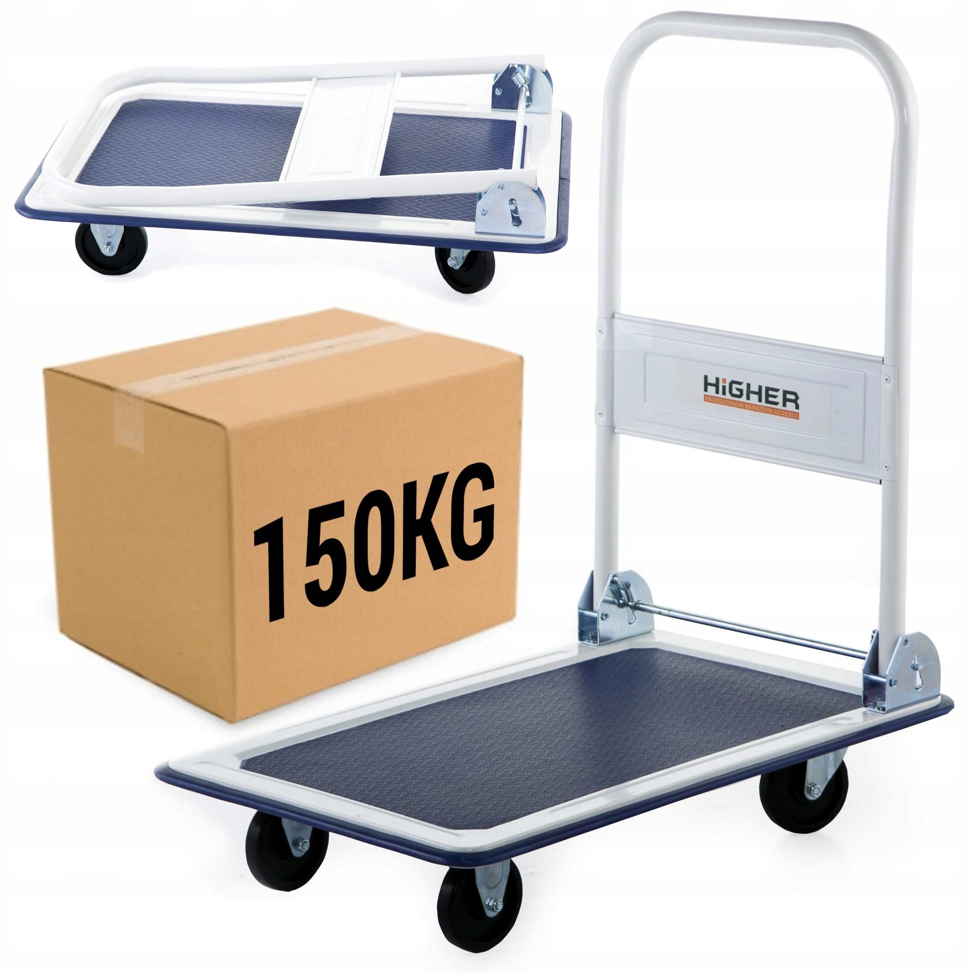 Wózek platformowy transportowy magazynowy 150 kg