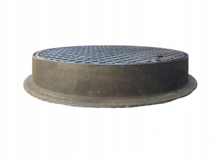 Właz żeliwny drogowy pokrywa + pierścień AO 600
