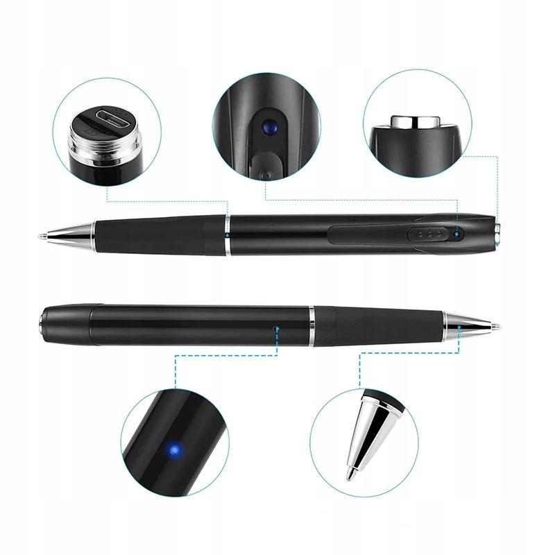 Długopis ukryta MINI KAMERA Full HD dyktafon FHD Model W8