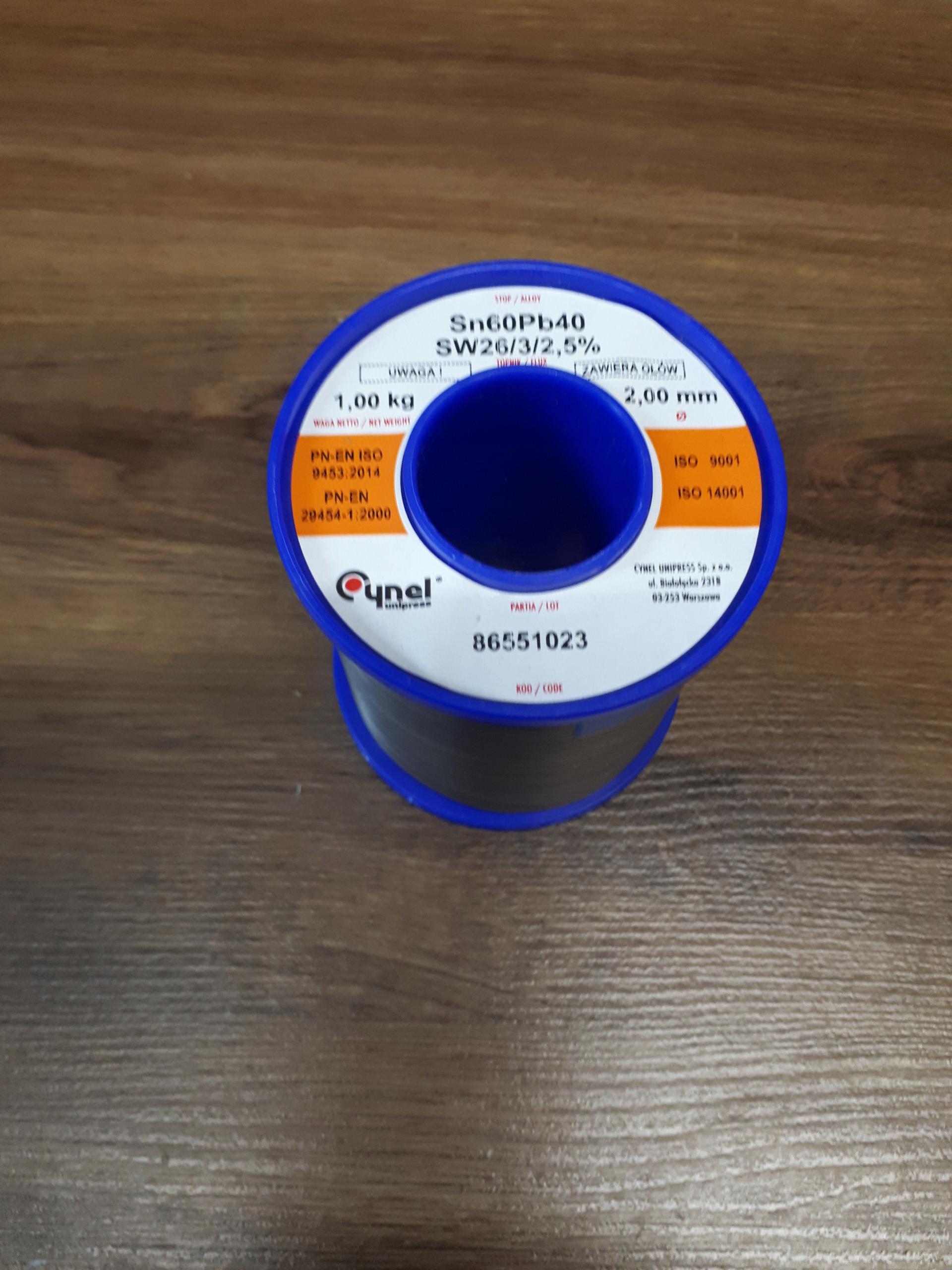 Cín s tavidlom, fi 1,0 1 kg, propagačný plech