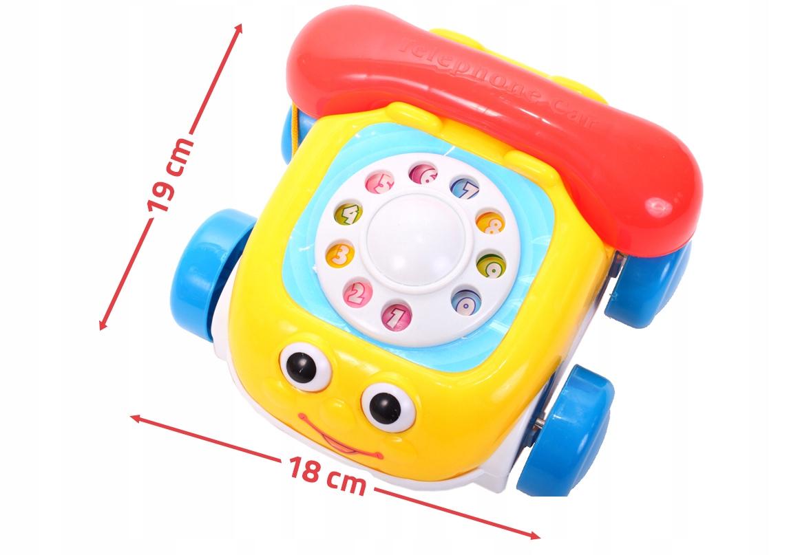 TELEFON GADUŁKI KOLOROWY Auto Na Sznurku Telefonik Płeć Chłopcy Dziewczynki