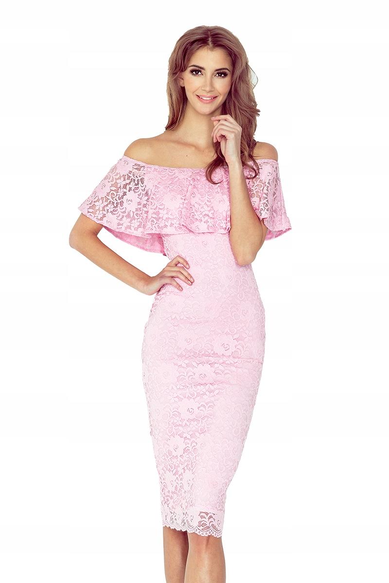 Sukienka hiszpanka Koronkowa Różowa Hot L