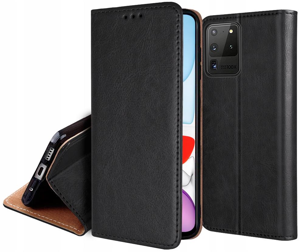 Etui Skórzane + Szkło do Samsung Galaxy S20 Ultra