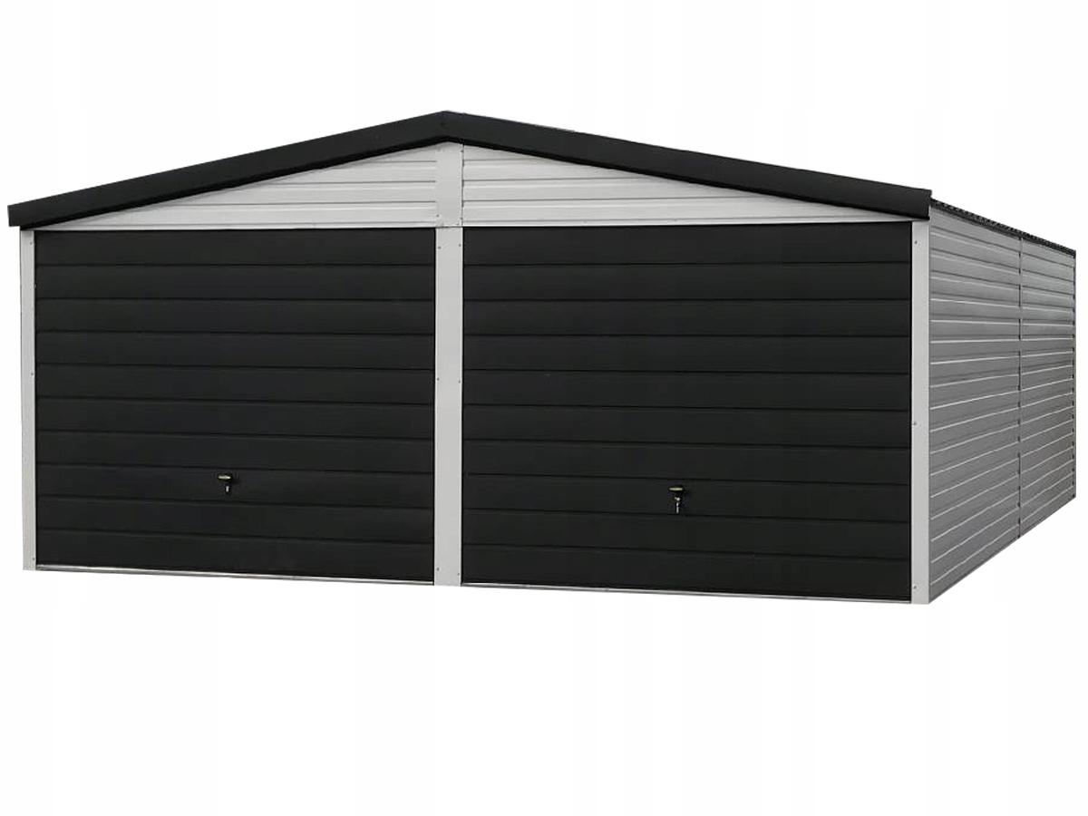 Жестяная дверь гаражная 6х5 жестяная, оконный оклад