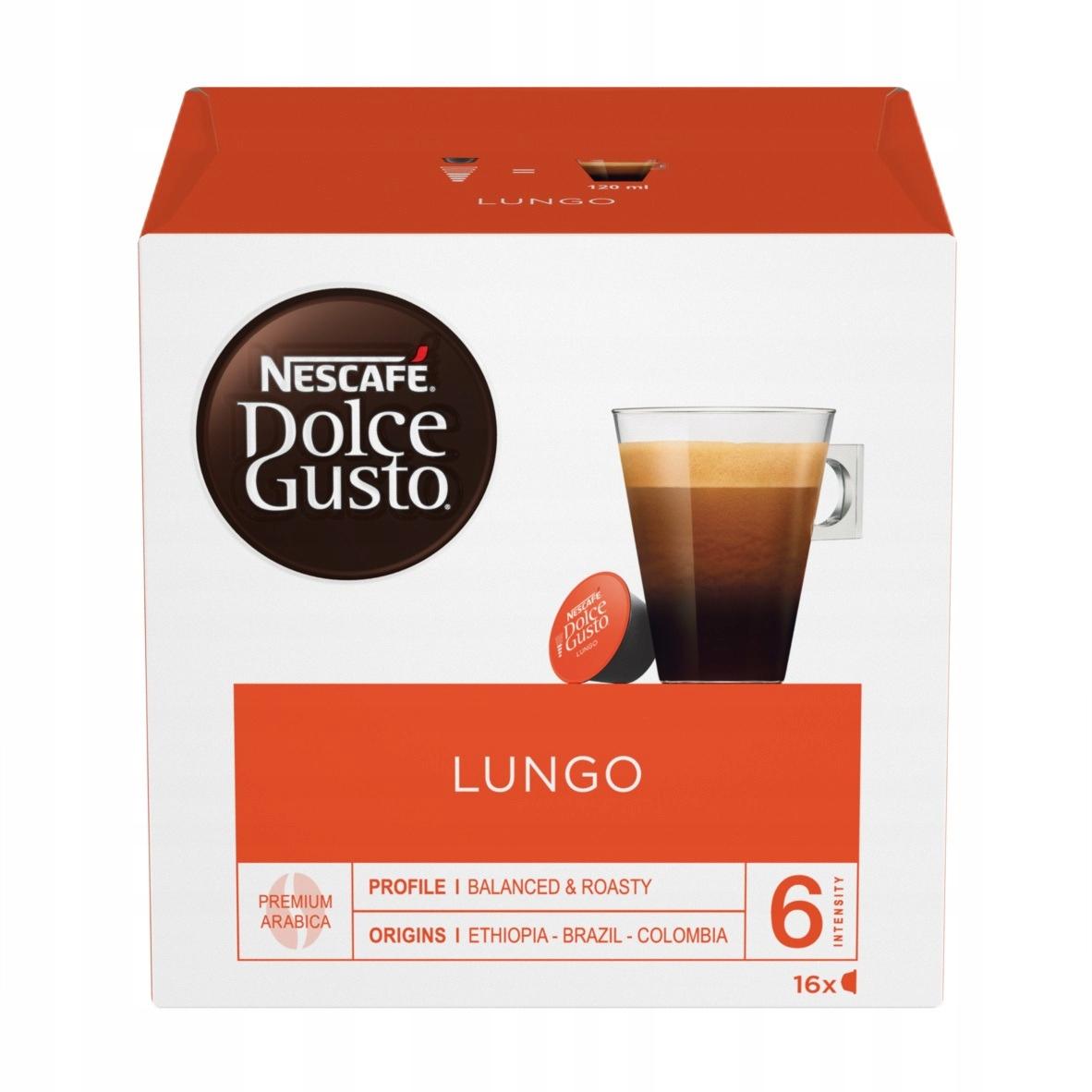 Kapsuły NESCAFE Dolce Gusto Caffe Lungo 16 SZTUK