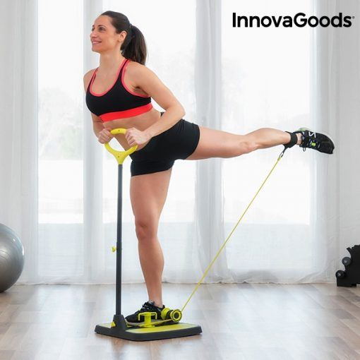 Prístroj na cvičenie zadku a nôh s vodítkom