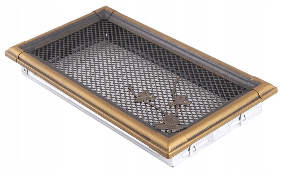 Vetranie rošt RETRO 16x32cm zlato patina