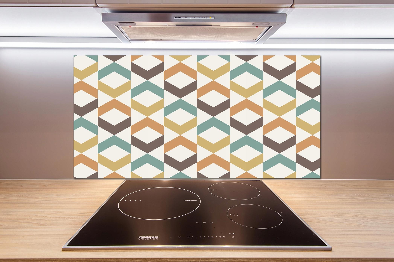 Panel medzi nábytkom v kuchyni Retro pozadie 100x50 + LEPIDLO