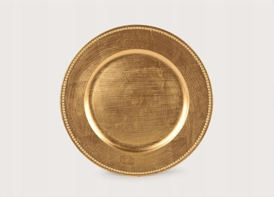 Podtalerz plastikowy ozdobny 33cm - złoty