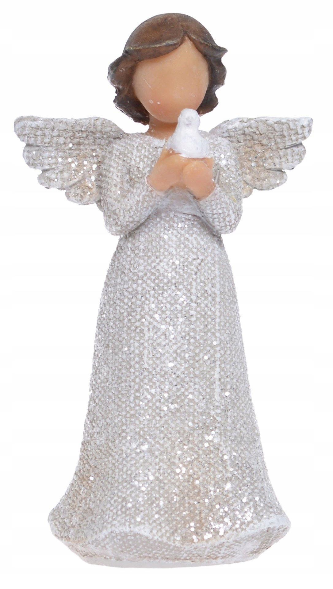 Миниатюрная фигурка ангела с голубем 12 см