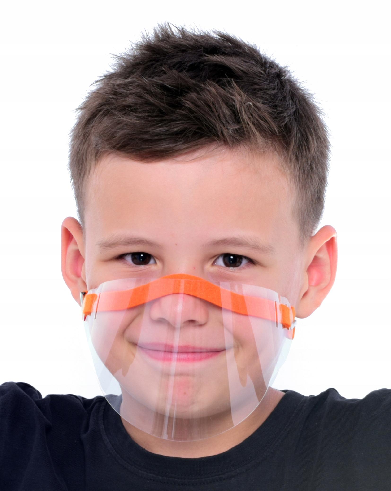 Maska ochronna dla dzieci mini przyłbica wygodna