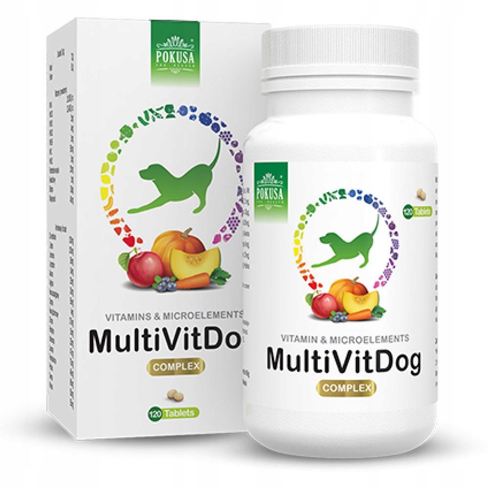 Покуса GreenLine MultiVit Dog 120 таб. витамины для собак