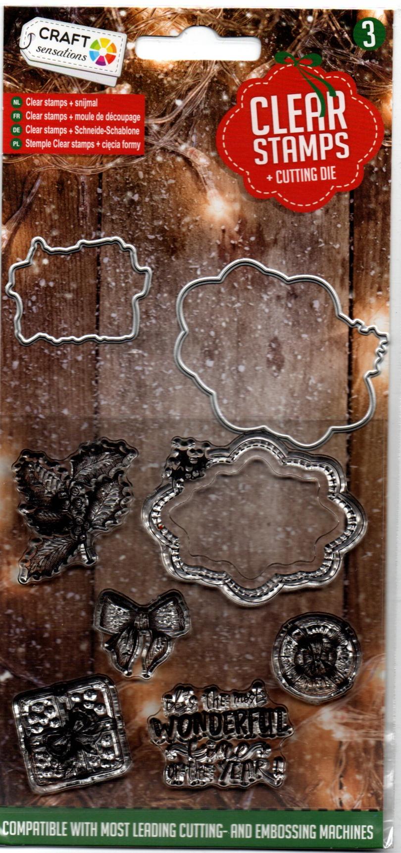 Stemple silikonowe, wykrojniki wzory świąteczne