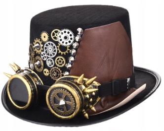 Steampunk čiapka, retro, cosplay