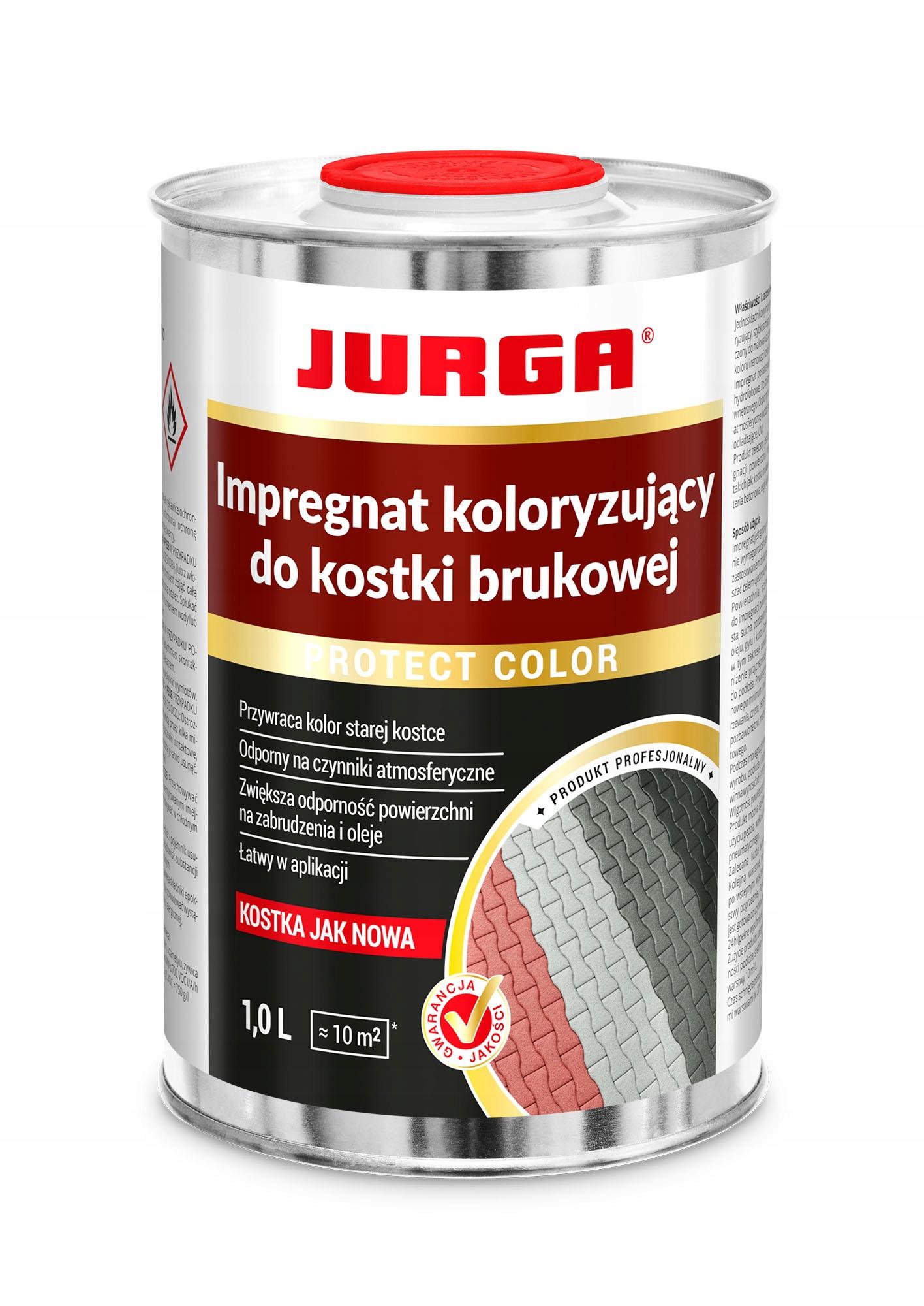 JURGA Protect Color 1Л красная пропитка куб
