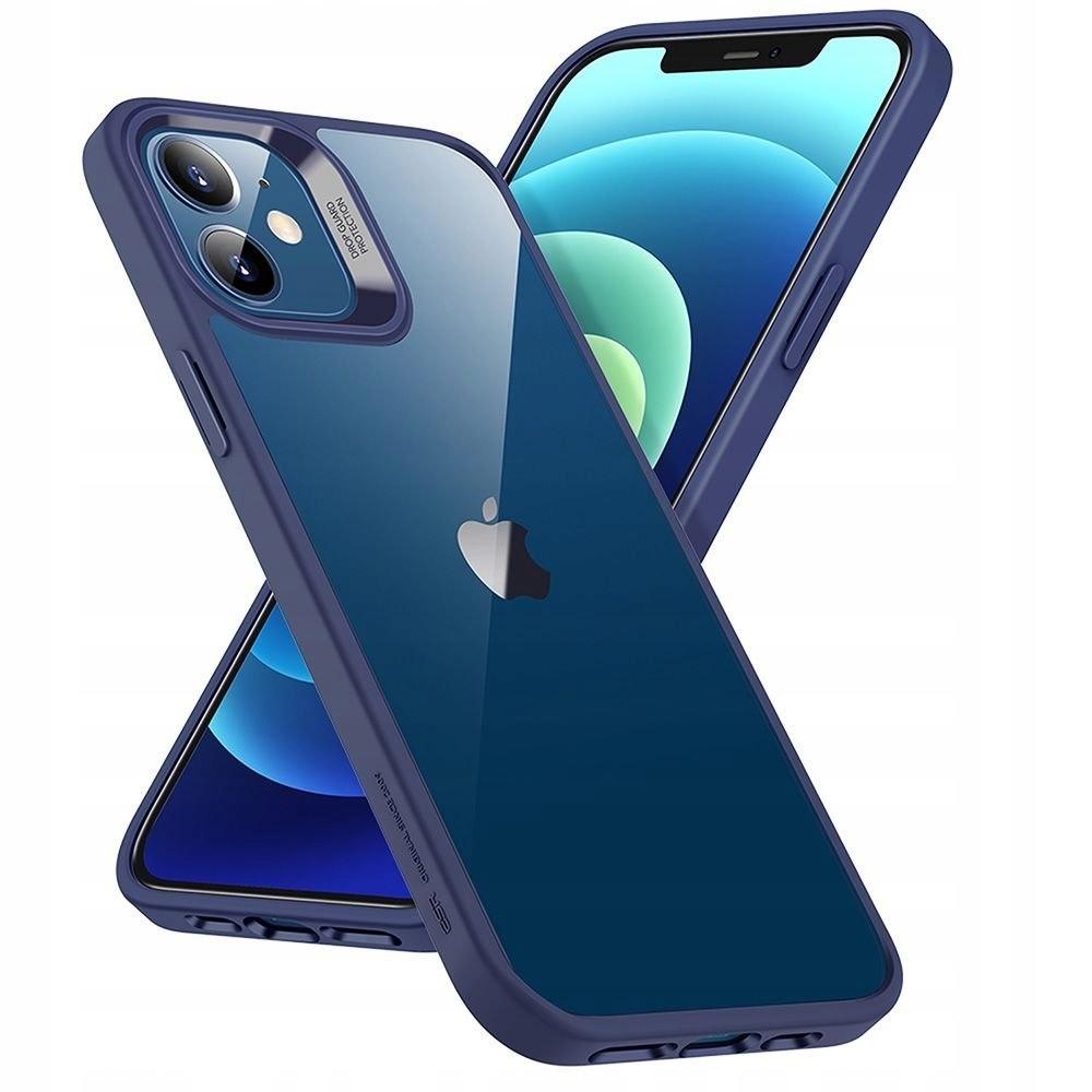Etui ESR Blue + Szkło Płaskie do iPhone 12 Mini Kolor niebieski