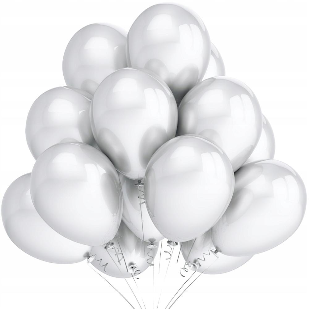 Металлические Воздушные Шары Белая Свадьба День Рождения Большой 25шт