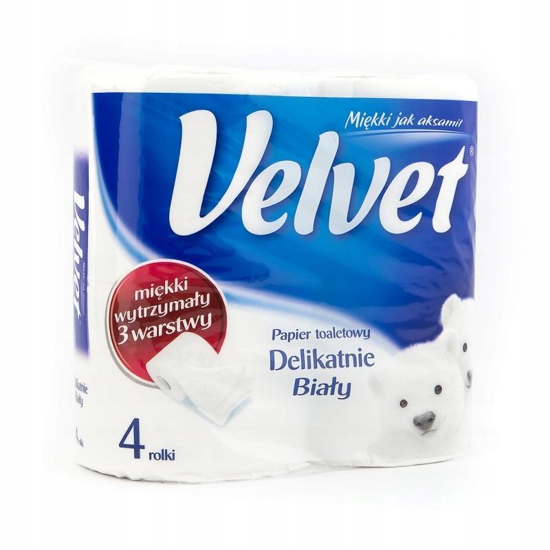 Туалетная бумага Velvet - нежно-белый, 4 рулона